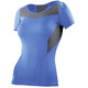 2XU W's Base Compression S/S Top Blue/Grey